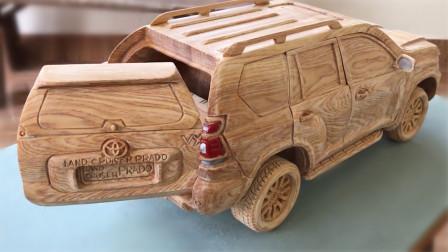 现代木工的技术有多牛?用木头随便造一辆汽车,转手就能卖两三千