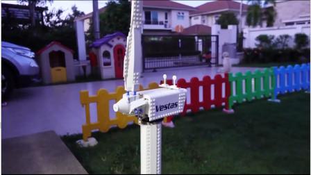 仿真工程车玩具,维斯塔斯风力发电机安装完成,又可以获得电能啦