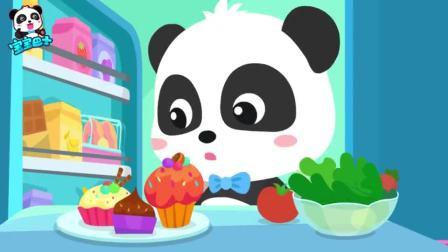 宝宝巴士:小鹦鹉肚子饿得咕噜咕噜,奇奇拿杯子蛋糕给它吃,早教动物认知