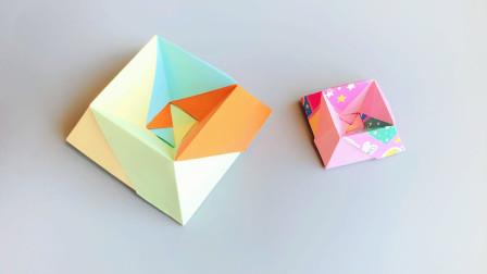 折纸教程:这不仅仅是个盒子,还是小猫小狗的饭碗