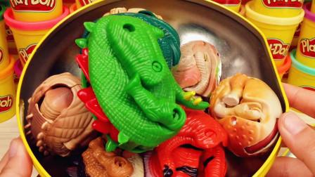 超级飞侠惊喜礼盒拆出超多恐龙变形蛋合集