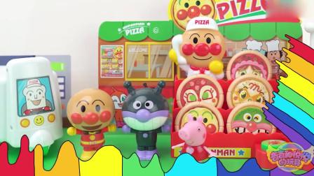 奇奇和悦悦的玩具:面包超人流星锤对战细菌小子
