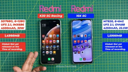 天玑820挑战骁龙768G,红米10X 5G与红米K30 5G谁更强?