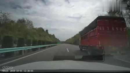 行车记录仪:高速公路上,这种情况就不要超车了,又不是老司机!