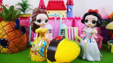 玉米蛋糕真好吃,马桶妹白雪好吃停不下来!