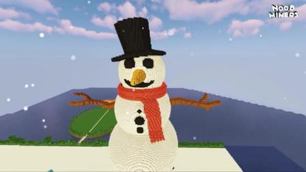 我的世界动画-如何造雪人-NOOB MINERS