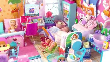 芭比的手工制作,芭比娃娃生了好多小宝宝