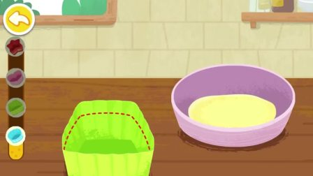 四个小蛋糕烤熟了,看着可美味了呢!宝宝巴士游戏