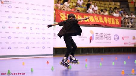 2019丽水全国轮滑锦标赛 少年男子花桩甲组 第一名 刘铭浩