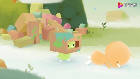 小鸡彩虹第二季:小绿和小橙成为了机器人,保护伙伴,维护正义