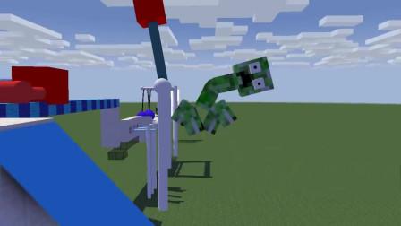 我的世界动画-怪物学院-欢乐跑酷闯关-MechanicZ
