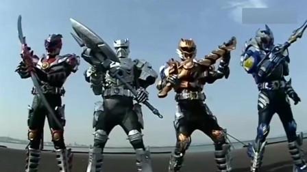 铠甲勇士:黑犀侠遭受伤害,兄弟们召唤武器去救他!
