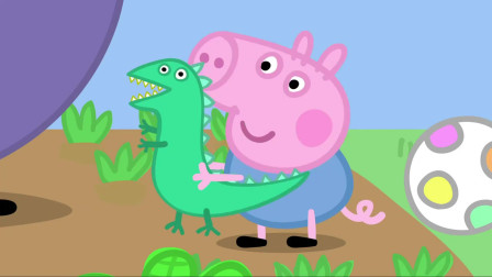 小猪佩奇:猪爷爷正在种植物,佩奇种出了草莓,乔治却想种恐龙!