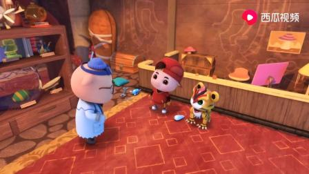 猪猪侠:基地进小偷,将所有纸全偷走,迷糊博士的设计图都没了!