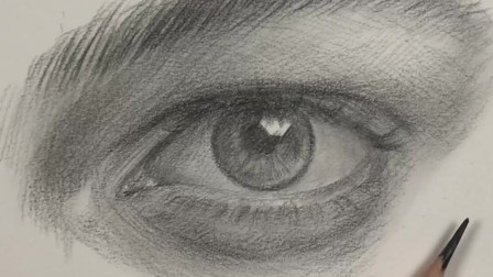 素描眼睛解析,画法教程,3分钟每一帧都是教程