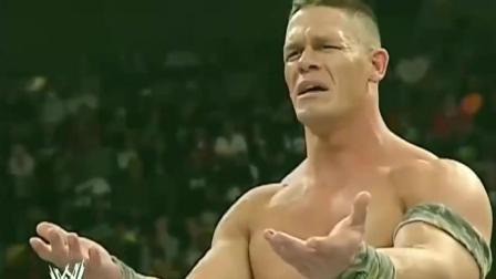 WWE不自量力的拳击小子,竟敢挑战肌肉狂魔塞纳,简直自取其辱