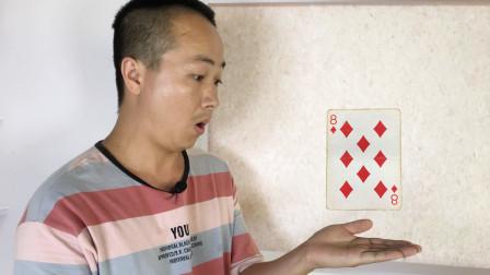 为什么观众心里想的扑克牌,会从中间自动飞出来?方法真的很简单