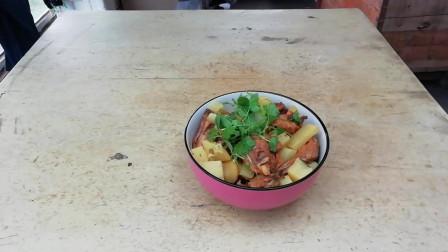土豆炖鸡块家常做法,鸡肉鲜嫩,土豆软烂,一看就会
