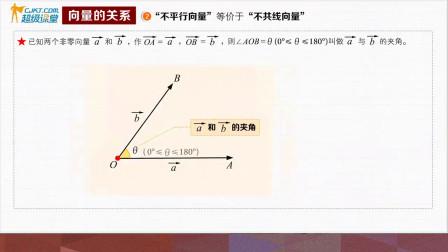 (向量的关系2:不平行的向量)
