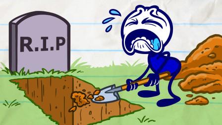 铅笔动画合集:不断靠近死亡的铅笔人