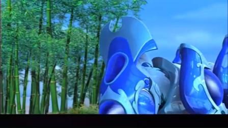 蓝猫龙骑团:九尾狐晕倒了,炫迪把他保护了起来