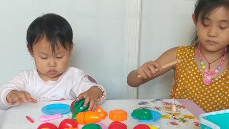 蔬果切切乐 切水果玩具 宝宝学习做饭 切切切 小玲