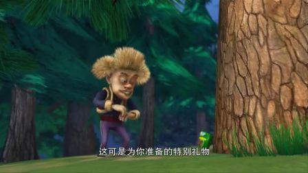 熊出没:光头强吃了泻药饼干,松鼠还在他面前跳舞嘲讽他