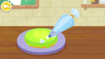 给蛋糕涂上奶油,是什么口味的蛋糕呢?宝宝巴士游戏