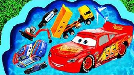 儿童趣味玩具乐园:校车、飞机、挖掘机、装载机、翻斗车!