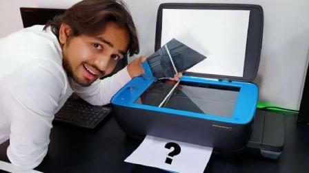 打印机能够打印出美味的披萨吗?小伙亲自测试,图案出现时太惊艳