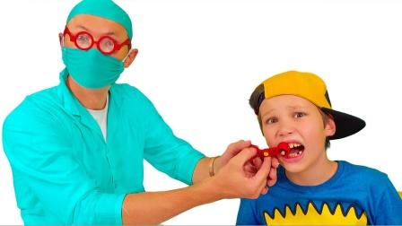 萌宝玩具故事:糟糕!小萝莉有什么好办法让小正太的牙齿不疼?