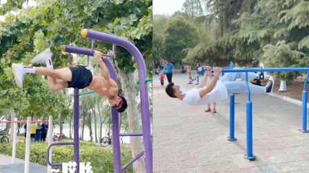真正的脚踩空气!健身小伙公园表演太空步,这是开挂了吧!