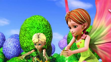 芭比之花仙子:花仙子们用自己的魔力,把挖掘机缠了起来