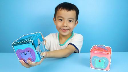 惊喜百宝箱盲盒玩具开箱,拆到稀有款爱心手链!