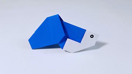 教你折纸金鱼2,海洋动物系列折纸,儿童很喜欢