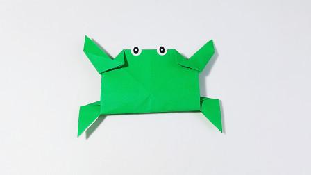教你折纸螃蟹,海洋动物系列折纸,儿童很喜欢