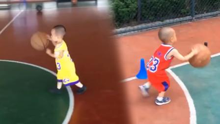 2岁儿童篮球能力超群,一次性能投进10个球,网友:赶快联系姚明