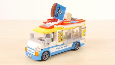 乐高冰淇淋车玩具展示