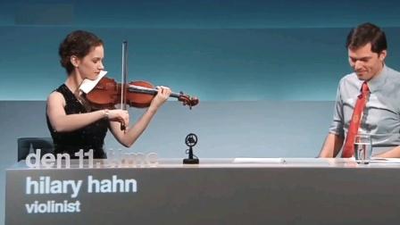 超美的声音,希拉里·哈恩《小星星》小提琴追求的最高目标就是音色
