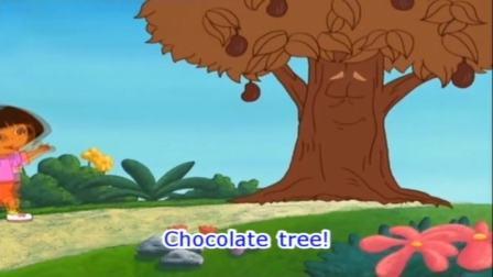 爱探险的朵拉:朵拉给巧克力树跳舞,把惊喜带回家,让奶奶开心