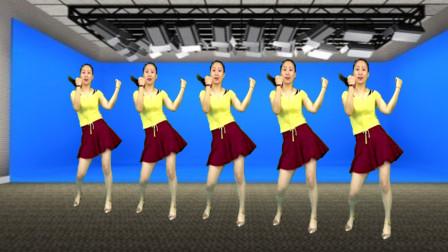 蓝莓思洁广场舞 全民健身运动操《结拜兄弟》活力32步 好看好学