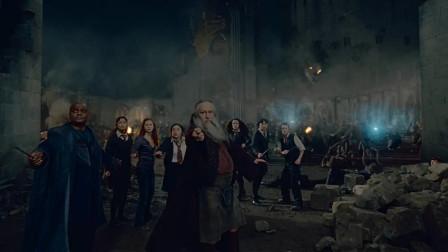哈利波特:伏地魔大军入侵霍格沃兹,教授们的魔法屏障挡都挡不住