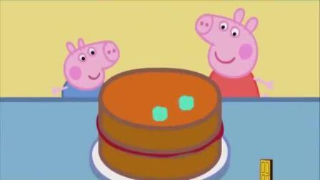 佩奇和乔治做生日蛋糕他们要插几根蜡烛呢?小猪佩奇游戏(3)