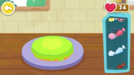 把奶油抹在蛋糕上,是不是更好吃呢?宝宝巴士游戏