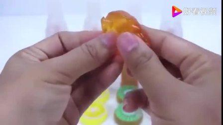 益智早教,baby做手工,果味水晶胶制作冰淇淋认颜色