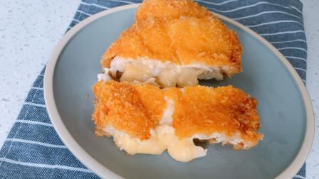 外面排长队买的爆浆鸡排,自己在家也能做,金黄酥脆,咬一口就爆浆