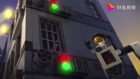 乐高城市:有人越狱,被披萨大哥看到,吓得把披萨都扔了