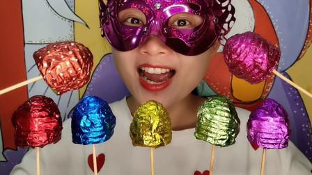 """小姐姐吃手工""""炫彩蜂巢巧克力"""",蜜蜂的房子,甜蜜奶香醇滑"""