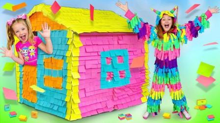 萌宝玩具故事:太皮了!小萝莉的身上为何都是便利贴?