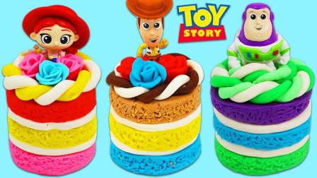 如何制作可爱的玩具总动员彩泥蛋糕,一起来看看吧!